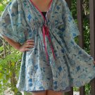 NOK06 Boho Floral Caftan Kaftan Kimono Tunic Cover-ups Dress Top Blouse