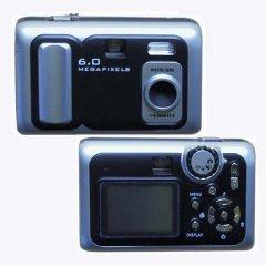 Digital Camera, Flash Light, 6.0M Pixel, 32MB build-in, SD/MMC