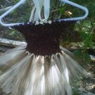 HANDMADE CHOCOLATE CREAM TUTU HALTER