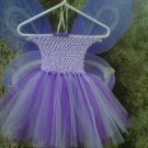 HANDMADE LAVENDER/ PURPLE TUTU DRESS W/ WINGS
