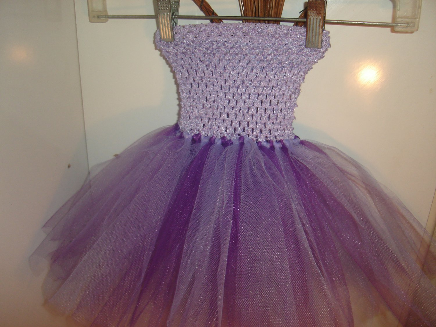 HANDMADE PURPLE/PLUM/LAVENDER TUTU DRESS
