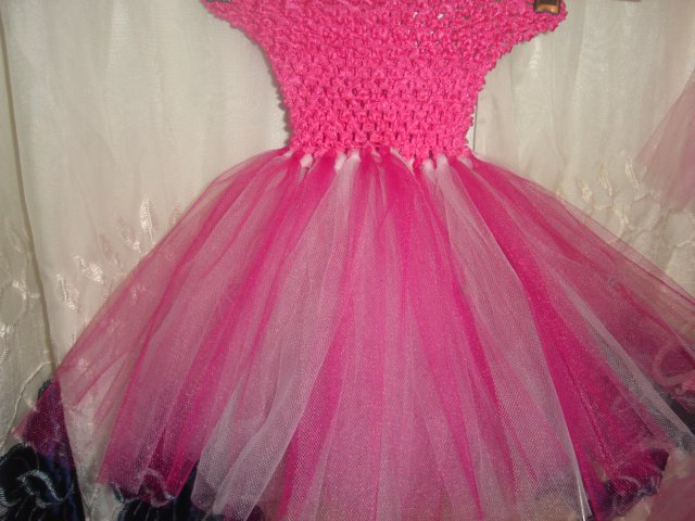 HANDMADE WINE LT PINK TUTU DRESS