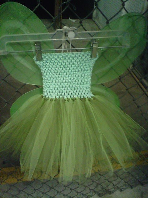 HANDMADE TINKER BELL COLOR TUTU DRESS