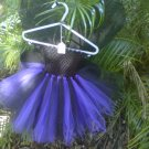 HANDMADE PURPLE/ BLACK TUTU DRESS W/  BLACK WINGS