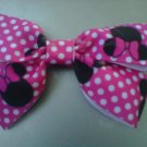 HANDMADE MINNIE MOUSE HAIR BOW CLIP  2for $2.50
