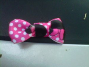 HANDMADE MINNIE MOUSE BOW CLIPPIE 2for $2.50