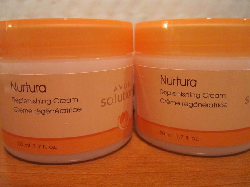 AVON Solutions Nurtura Replenishing Cream~LOT OF TWO   Free shipping