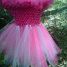 HANDMADE  SHOCKING PINK/ PINK TUTU DRESS  SIZE 6MONTHS TO T0 6X GIRL