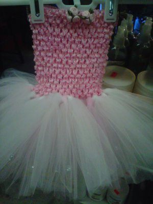 HANDMADE HALTER TUTU DRESS FIRST BORN