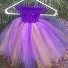 CUSTOM MADE  PURPLE/GOLD  TUTU DRESS FOR YOUR DIVA