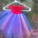 CUSTOM MADE  RED/SILVER/ BLUE TUTU DRESS FOR YOUR DIVA