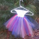 CUSTOM   MADE   WHITE/RED/SILVER/ BLUE TUTU DRESS FOR YOUR DIVA
