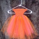 CUSTOM MADE SHIMMER ORANGE / CORAL TUTU DRESS