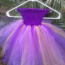 CUSTOM MADE PURLE/GOLD / GOLD SHIMMER TUTU DRESS