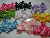 polkadot hair bow 8 for $20.15