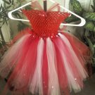 ARTISAN CUSTOM VALENTINE RED/WHITE TUTU DRESS  3 FOR $62.15
