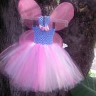 handmade cotton candy tutu dress w/ wings