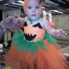 HANDMADE HALLOWEEN TUTU DRESS  7 MTH OLD LIL DIVA