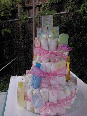 HANDMADE 3 TIER DIAPER CAKE