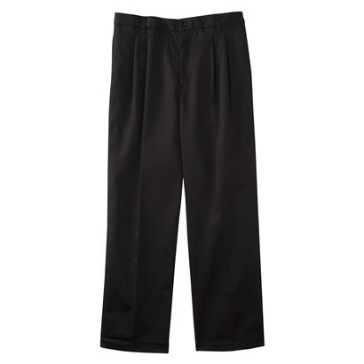 Young Mens' Uniform Pleat Front Pant - Black