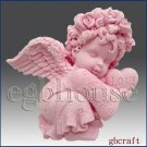 2D Silicone Soap Mold - Valentine Angel Girl