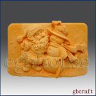 2D Silicone Soap Mold - Santa and the Snowman