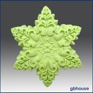 Silicone Soap / Floating Candle Mold – Snowflake #3