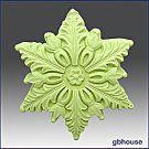 Silicone Soap / Floating Candle Mold – Snowflake #4