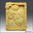 2D Soap and Silicone Mold Father and Child Portrait