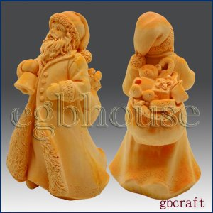 3D Silicone Soap & Candle Mold- St. Nicholas with Bell