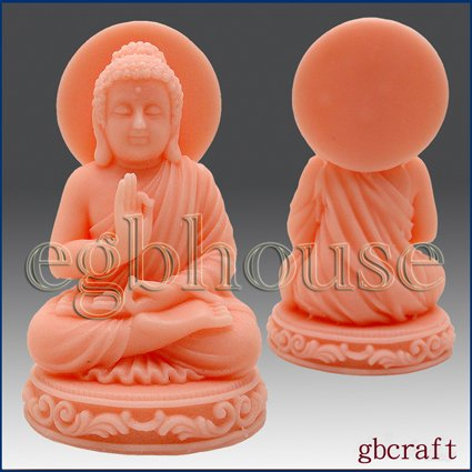 3D Silicone Soap & Candle Mold Sitting Buddha