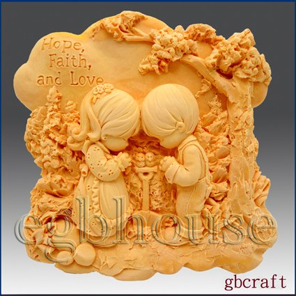 2D Silicone Soap Mold � Friends Praying