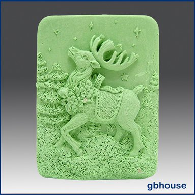 2 D Silicone Soap Mold � Prancer the Reindeer