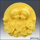 2D Silicone Soap Mold - Newlyweds & Roses
