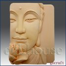 2D Silicone Soap Mold - Buddha Closeup w/Lotus