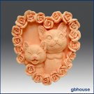 Silicone Soap Mold – Kitty Kat Heart