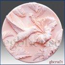 2D Silicone Soap Mold - Hummingbird in Hibiscus Garden