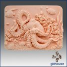 Silicone Soap Mold – Octopus on Coral Reef
