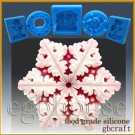 2D Food Grade/Chocolate Silicone Mold – Snowflake # 7