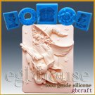 2D Silicone Soap/sugar/fondant/chocolate Mold-Whatta Witch! - Freeshipping