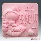 2D Silicone Soap Mold- You Are My Princess