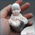 3D Silicone Soap Mold-Baby having fun(2 parts assembled mold)-free shipping