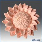 2D Silicone Soap and floating candle Mold – Sunflower