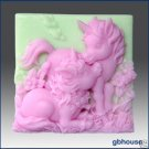 Silicone Soap Mold –  Altair and Cintara- Unicorn Ponie