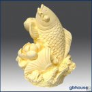 3D Silicone Soap & Candle Mold – Lucky Carp with Lotus