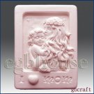 2D Silicone Soap Mold  - Mother holding her child in moonlight