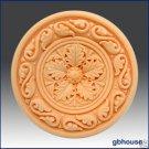 Silicone Soap Mold – Round Rosette #3