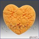 2D Silicone Guest Soap Push Mold - Mini Sunflower Heart-2 cavities-free shipping