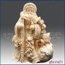 3D Silicone Soap/Candle Mold - Classic Santa - free shipping