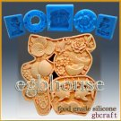 2D Silicone Soap/sugar/fondant/chocolate Mold - Great Fortune Character